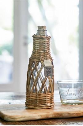 Butelka na Wodę /Rustic Rattan Open Weave Bottle M-1344