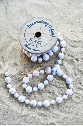 Dekoracja Koraliki Białe / Decoration Beads white
