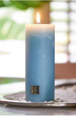 Świeca RM Niebieska / Rustic Candle med. blue 7x18