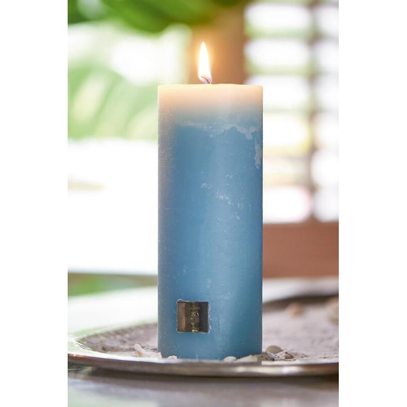 Świeca RM Niebieska / Rustic Candle med. blue 7x18-483
