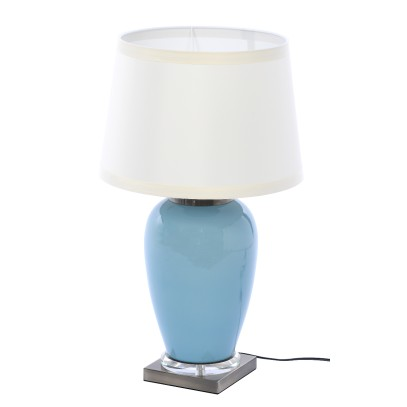 LAMPA STOŁOWA Z ABAŻUREM AUDLEY 22X22X50CM
