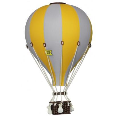 Balon Dekoracyjny L12 Szaro-Żółty DUŻY 50 cm