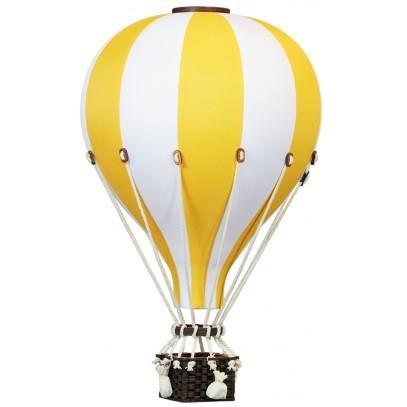 Balon Dekoracyjny L12 Biało-Żółty DUŻY 50 cm