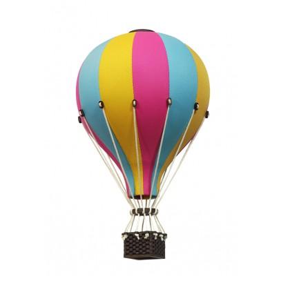 Balon Dekoracyjny L12 Różowo-Żółto-Niebieski ŚREDNI 33 cm