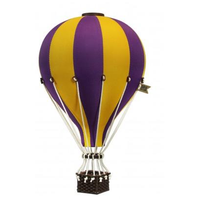 Balon Dekoracyjny L12 Żółto-Niebieski ŚREDNI 33 cm