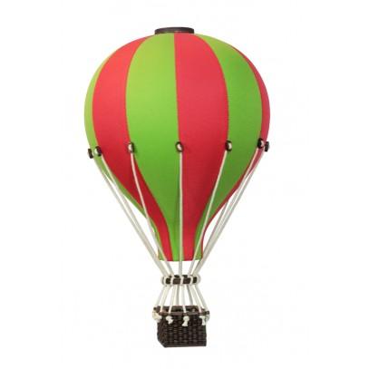 Balon Dekoracyjny L12 Zielono-Czerwony ŚREDNI 33 cm