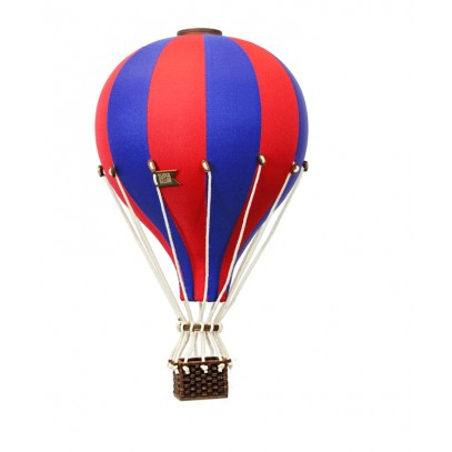 Balon Dekoracyjny L12 Granatowo-Czerwony ŚREDNI 33 cm