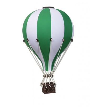 Balon Dekoracyjny L12 Biało-Zielony ŚREDNI 33 cm