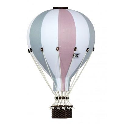 Balon Dekoracyjny L12 Biało-Różowo-Błękitny ŚREDNI 33 cm