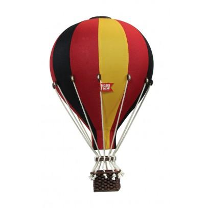 Balon Dekoracyjny L12 Czerwono-Żółto-Czarny ŚREDNI 33 cm