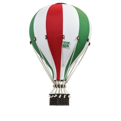 Balon Dekoracyjny L12 Biało-Zielono-Czerwony ŚREDNI 33 cm
