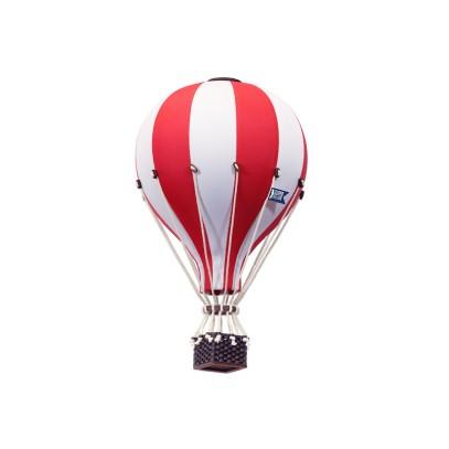Balon Dekoracyjny L12 Biało-Czerwony ŚREDNI 33 cm