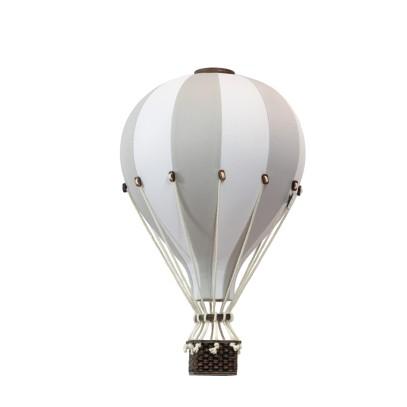 Balon Dekoracyjny L12 Biało-Jasnoróżowy ŚREDNI 33 cm