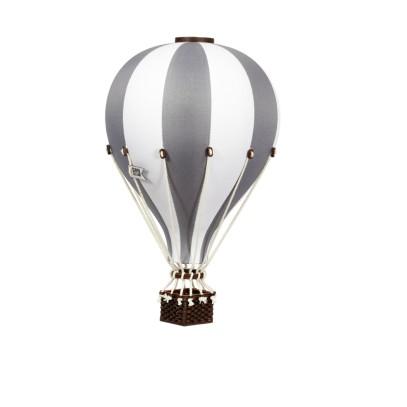 Balon Dekoracyjny L12 Biało-Szary ŚREDNI 33 cm