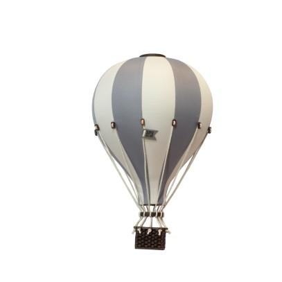 Balon Dekoracyjny L12 Beżowo-Jasnoszary ŚREDNI 33 cm