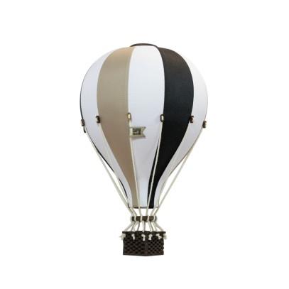 Balon Dekoracyjny L12 Biało-Czarno-Złoty ŚREDNI 33 cm