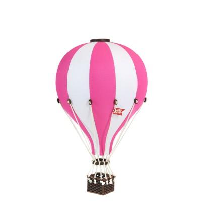 Balon Dekoracyjny L12 Biało-Różowy ŚREDNI 33 cm