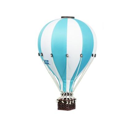 Balon Dekoracyjny L12 Biało-Błękitny ŚREDNI 33 cm