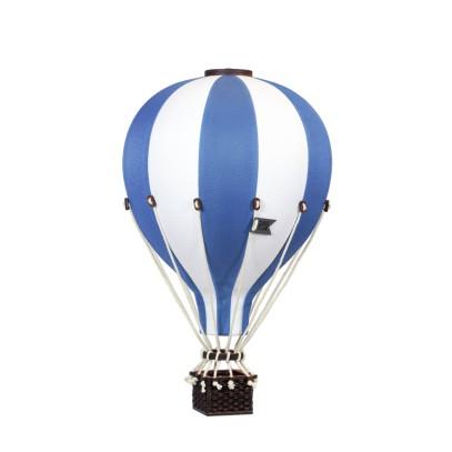 Balon Dekoracyjny L12 Biało-Niebieski ŚREDNI 33 cm