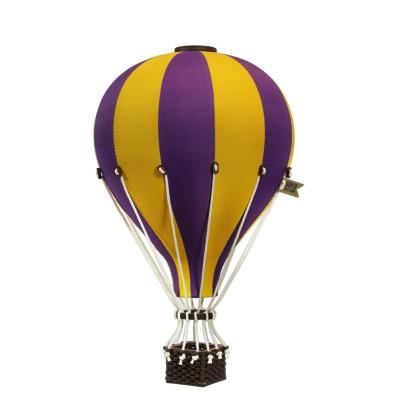 Balon Dekoracyjny L12 Żółto-Fioletowy ŚREDNI 33 cm
