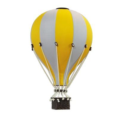 Balon Dekoracyjny L12 Żółto-Szary ŚREDNI 33 cm