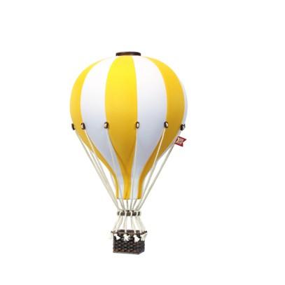 Balon Dekoracyjny L12 Biało-Żółty  ŚREDNI 33 cm