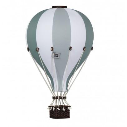 Balon Dekoracyjny L12 Biało-Miętowy ŚREDNI 33 cm