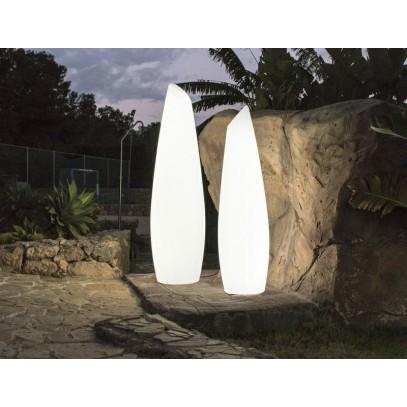 NEW GARDEN lampa ogrodowa FREDO 170 SOLAR biała - LED, sterowanie pilotem
