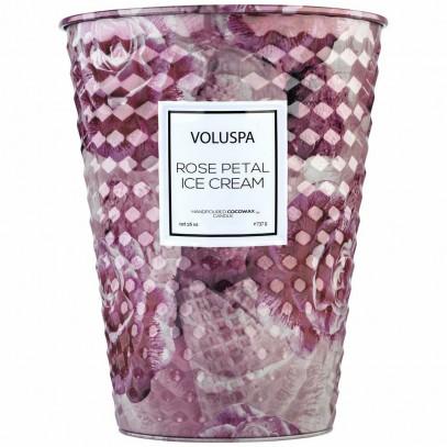 VOLUSPA świeca ROSE PETAL ICE CREAM  GIANT 737G - wosk kokosowy , dwa knoty