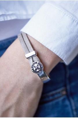 Bransoletka / Sturdy Button Bracelet Sand