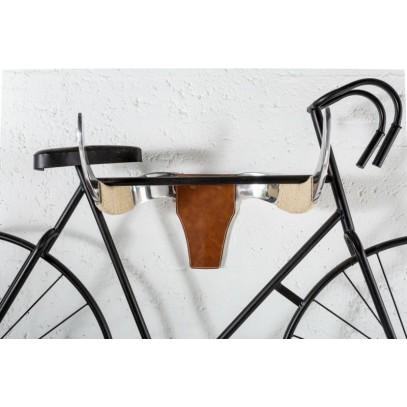 INVICTA wieszak na rower BYK srebrny - metal, skóra naturalna