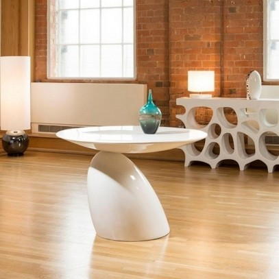 Stół FUNGO GRANDE biały - włókno szklane