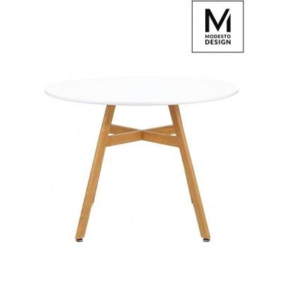 MODESTO stół FLAT FI 100 biały - blat MDF, imitacja drewna