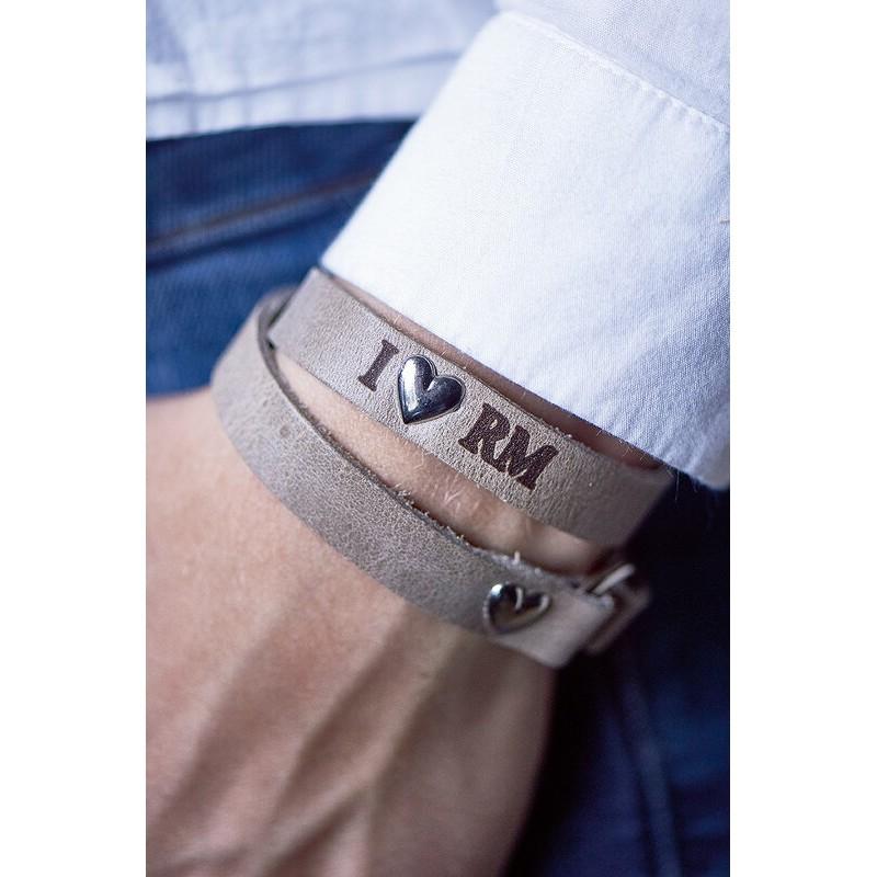 Bransoletka / RM Heart Wrap Around Bracelet Sand