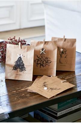 Torebki Pap. 6 szt. / Merry Christmas Paper Bags 6