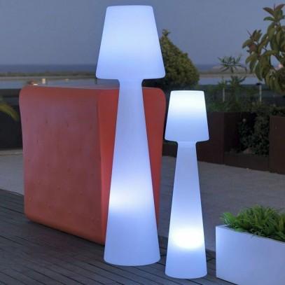 NEW GARDEN lampa podłogowa LOLA 165 biała - LED, wbudowana bateria