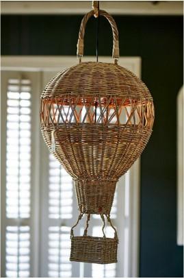 Lampa Rattanowy Balon / Mongolfier Hanging Lamp