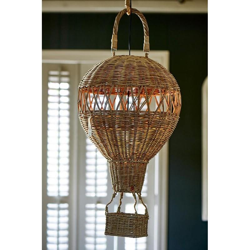 Lampa Rattanowy Balon / Mongolfier Hanging Lamp-1857