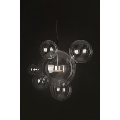 Lampa wisząca CAPRI 6 chrom - 60 LED, aluminium, szkło