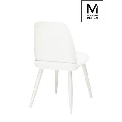 MODESTO krzesło BOOMER białe - polipropylen, metal