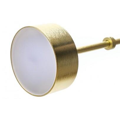 Lampa wisząca CAPRI 4 złota - 60 LED, aluminium, szkło