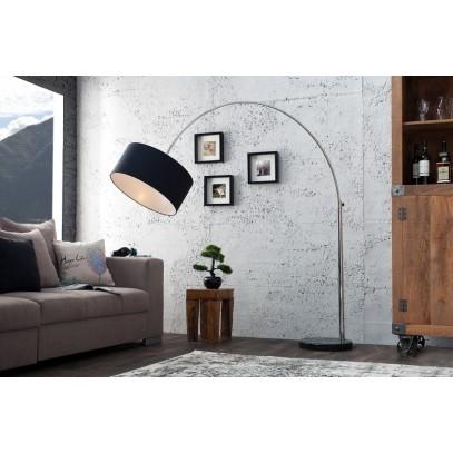 INVICTA lampa podłogowa BIG BOW czarna - marmur, metal, tkanina