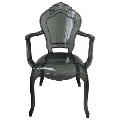 Krzesło KING ARM dymione - poliwęglan