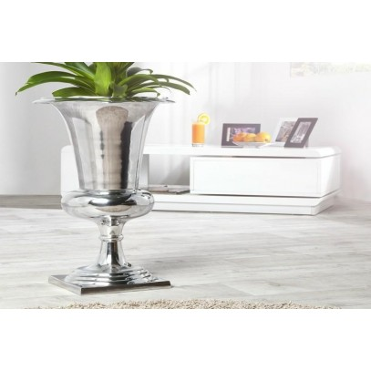 INVICTA wazon GOAL 75 cm srebrny - aluminium