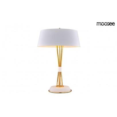 MOOSEE lampa stołowa SNITCH TABLE - złota podstawa, biały klosz