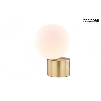 MOOSEE lampa stołowa PARLA - złota podstawa, biały klosz