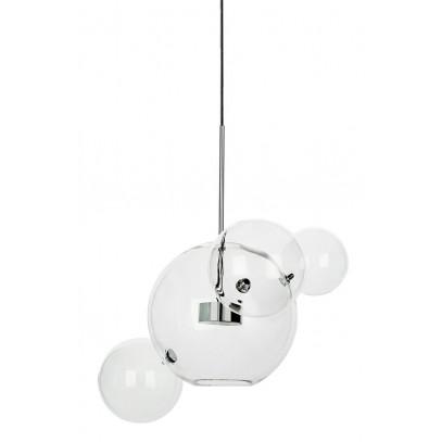 Lampa wisząca CAPRI 4 chrom - 60 LED, aluminium, szkło