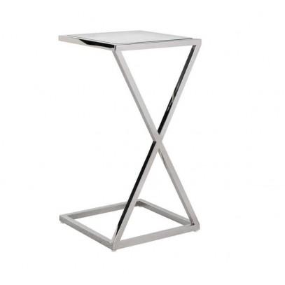 RICHMOND stolik PARAMOUNT - szkło, stal polerowana