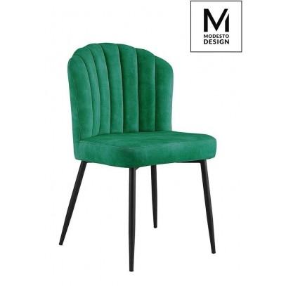 MODESTO krzesło RANGO zielone - welur, metal