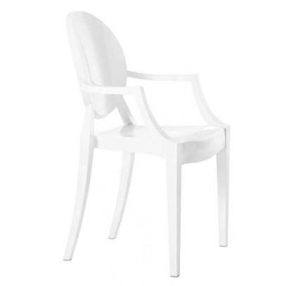 Krzesło LOUIS białe - poliwęglan